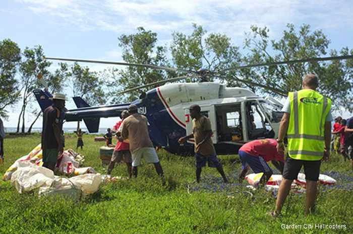 The Airbus Helicopters Foundation partnered with New Zealand operator Garden City Helicopters to provide aid in Vanuatu following tropical cyclone Pam