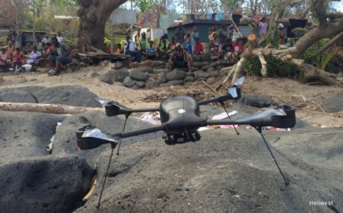 Following the devastation of Cyclone Pam in Vanuatu, Australian operator Heliwest used Lockheed Martin Indago small unmanned aerial system (UAS) to collected imagery of the damage