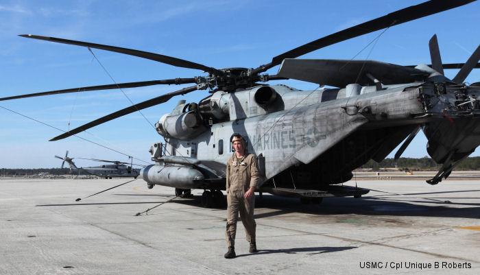 A Marine with Marine Heavy Helicopter Squadron 366 (HMH-366) was awarded the Enlisted Aircrewman of the Year Award for 2014  for the most outstanding contribution by a Marine enlisted aircrewman.