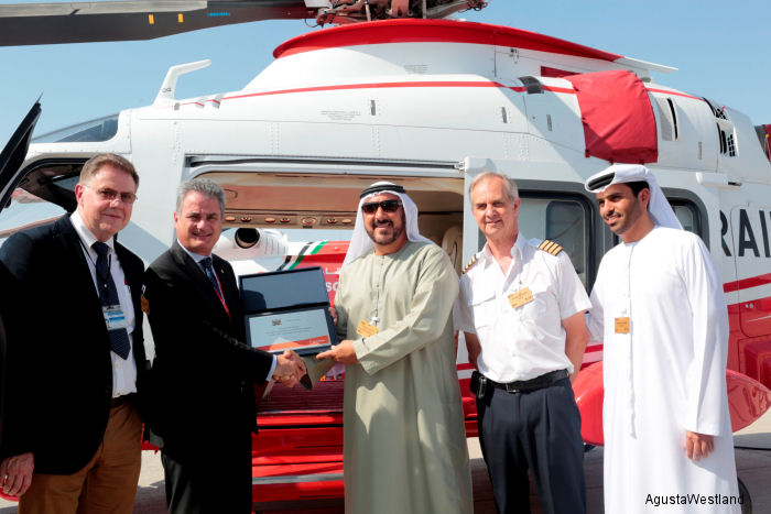 Dubai Air Wing achieved 20 years of operations with AgustaWestland helicopter models