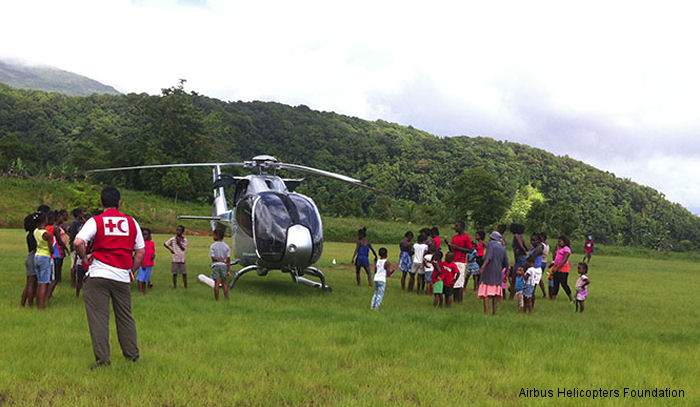 The Airbus Helicopters Foundation has provided support chartering a H120 helicopter for the ongoing humanitarian relief operations in Dominica, in the Caribbean, in the wake of tropical storm Erika.