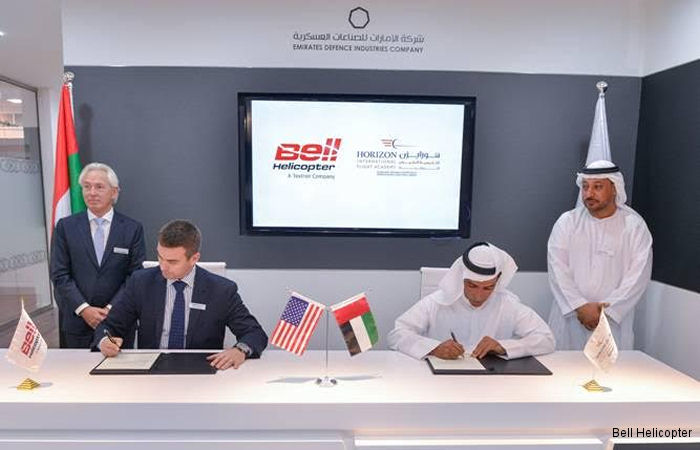 UAE based Horizon International Flight Academy signs a Letter of Intent (LOI) to become the first Bell Helicopter authorized training center in the Middle East.