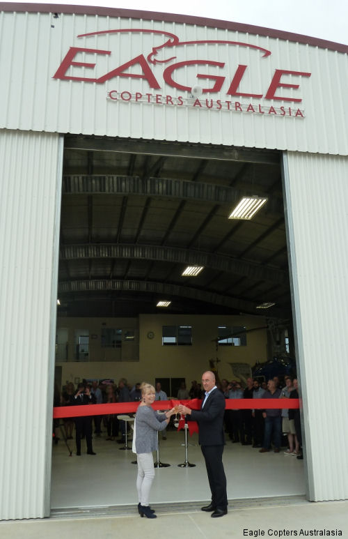 Eagle Copters Australasia officially opens new state-of-the-art maintenance and support facility