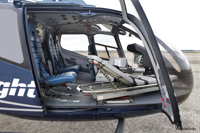 Air Methods received Federal Aviation Administration (FAA) Supplemental Type Certification (STC) of EC130T2 Emergency Medical helicopter equipped with new medical interior and avionics suite.