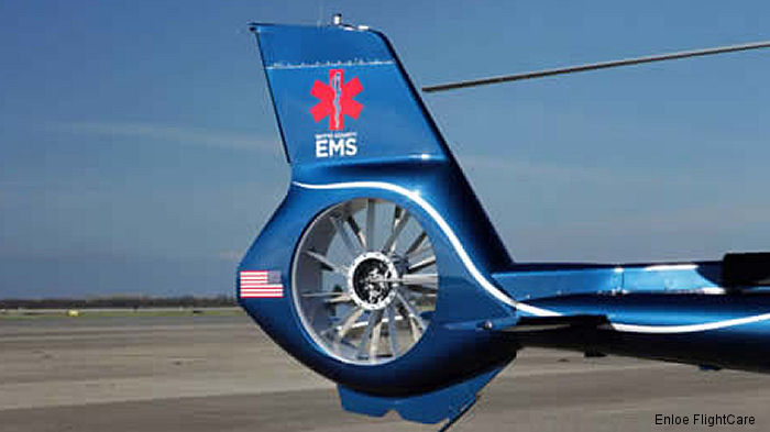 Enloe FlightCare of Sacramento California will be the first in the world to use an EC130 T2 EcoStar helicopter that has been retrofitted as an air ambulance. Public unveiling scheduled Jan.10 at 2PM