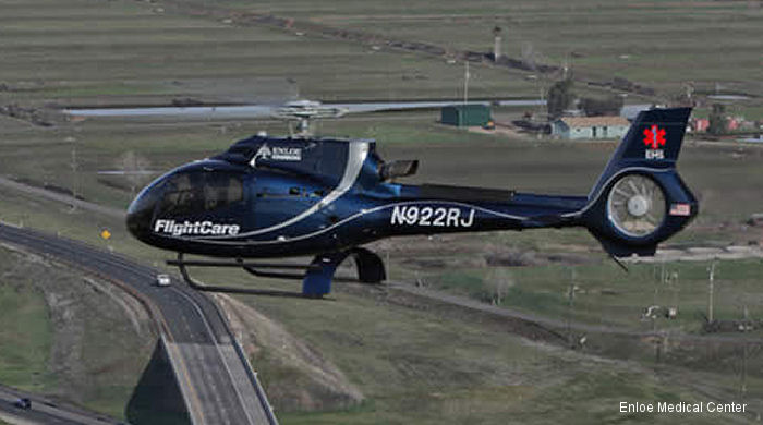 Enloe Medical Center FlightCare Program became the first in the world to use a single-engine EC130T2 EcoStar helicopter as an air ambulance this month.