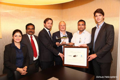 Airbus Helicopters EC130 T2 enters the Indian market with orders from two launch customers