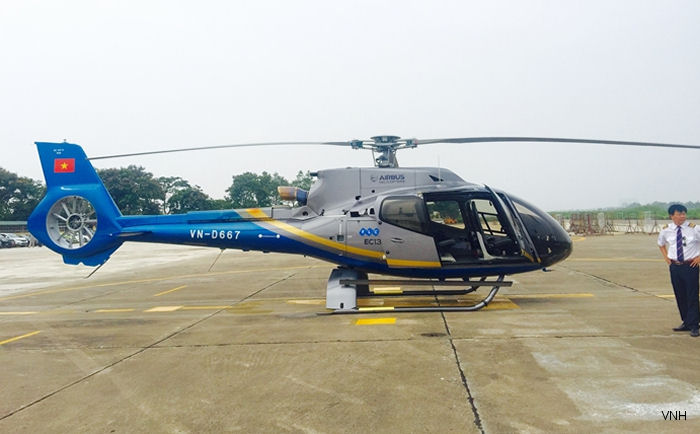 Vietnam Helicopter Company (VNH) launches tourism helicopter tours with brand new EC130T2