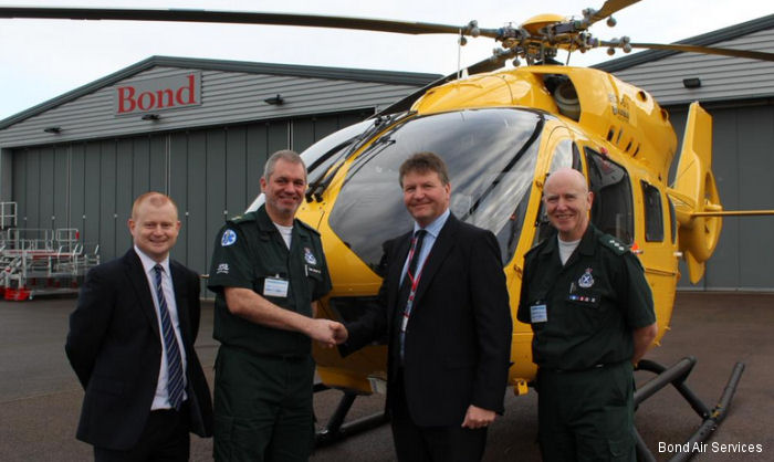 UK second EC145T2 arrived at Bond Air Services Gloucestershire Airport headquarters last week. The brand new aircraft will be operated for the Scottish Ambulance Service
