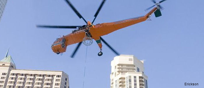 Erickson S-64E aircrane will assist in the external load transport of more than 1,000 natural gas pipeline segments that will complete the 329 mile/529 km long Topolobampo Project in Sinaloa