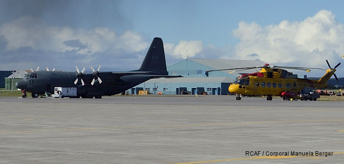Eight men went adrift on an ice floe near Coral Harbour, NU on January 9 and were rescued by a CC-130 Hercules and CH-149 Cormorant team of the Royal Canadian Air Force on January 11.