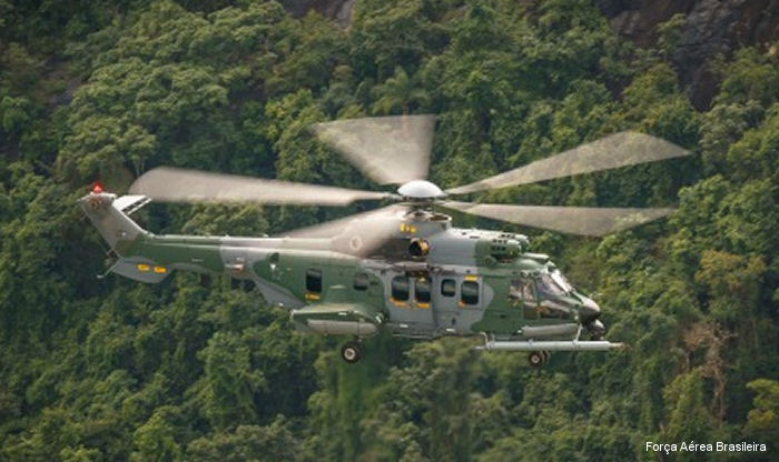 The Brazilian Air Force (FAB, Força Aérea Brasileira) received the first H-36 Caracal ( EC725 / H225M ) in operational version. 22 of 50 helicopters already delivered