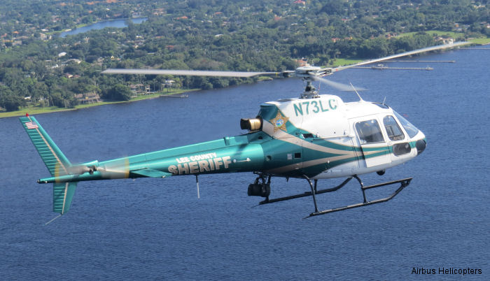Lee County Sheriff's Office in Ft. Myers, Florida received a new H125 (AS350B3e) to join their two AS350B already in service