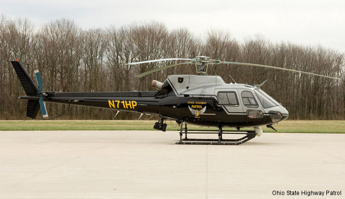 Ohio State Highway Patrol (OSHP) has ordered the first H125 AStar (AS350B3e) produced on the new final assembly line at Airbus production facility in Columbus, Mississippi to replace their current AS350B2 helicopters