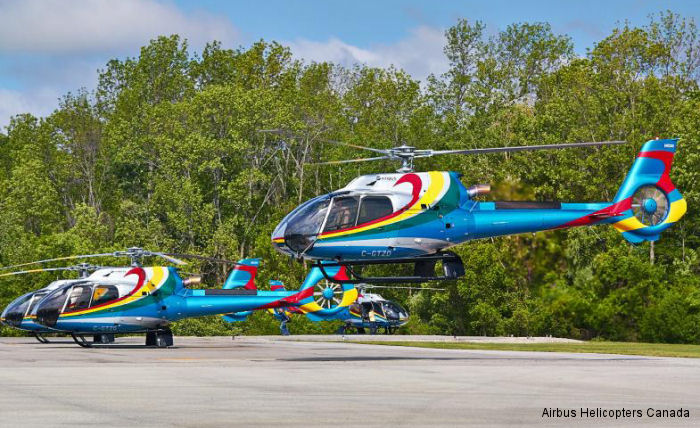 Airbus Helicopters Canada delivered 4 new 7-passengers H130/EC130T2 aircraft to Niagara Helicopters who provide flightseeing tours over the Niagara Falls.