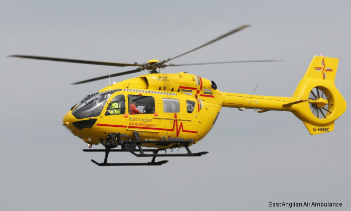United Kingdom s first H145 / EC145T2, operated by Bond Air Services on behalf of East Anglia Air Ambulance (EAAA) has completed its first mission transporting a patient to the Royal London Hospital
