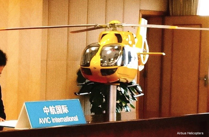 Guangzhou Police signed for one H145, the first of this type in China, to be delivered at the end of 2016 with searchlight, external hoist, rappelling ropes, cargo sling, Bambi Bucket and stretcher