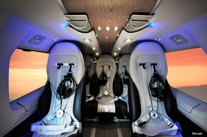 Mecaer Aviation Group (MAG) announced it has achieved an EASA STC for the H145 (EC145T2) Mercedes Benz Style luxury interior.