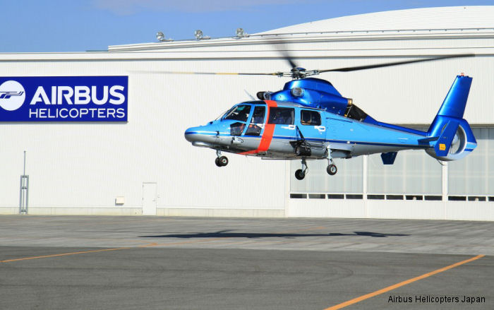 H155/EC155 and AS365N3+ were delivered or ordered by the Kagawa, Fukuoka, Hyogo and Hiroshima  Prefectural Polices and by the Nagoya City Fire Department.
