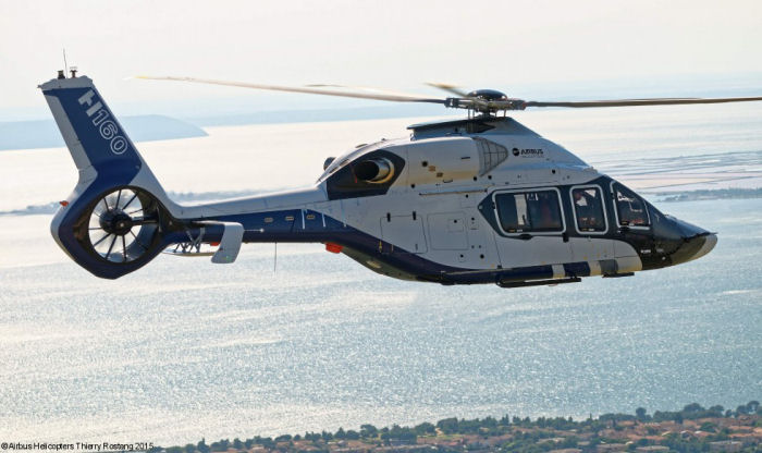 The Airbus Helicopters H160 helicopter flew for the first time in Marignane on 13 June shortly after beginning its ground runs end of May.