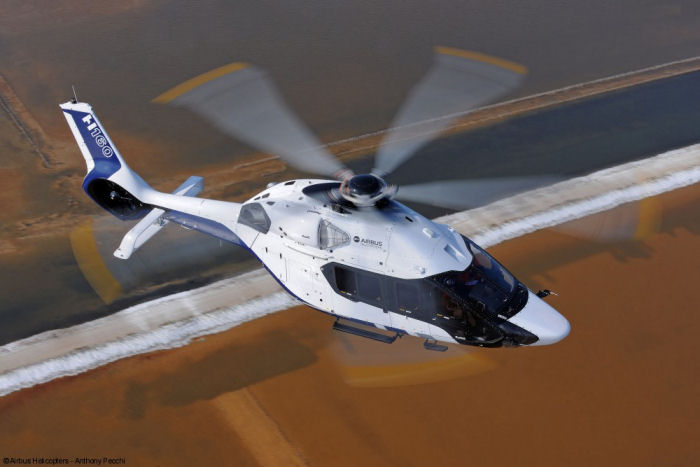 The H160 mock-up is making its British debut today at Helitech 2015, as the program steadily pursues its flight test campaign.