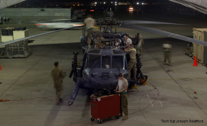 USAF 41st Expeditionary Helicopter Maintenance Unit (EHMU) at Bagram airfield maintain the HH-60 Pave Hawk helicopters so that the combat rescue mission in Afghanistan can be a success