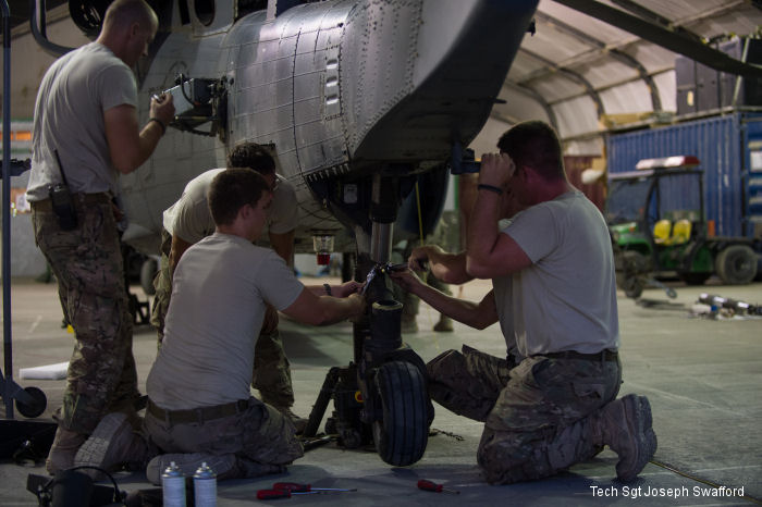 Pave Hawk maintainers keep rescue birds flying