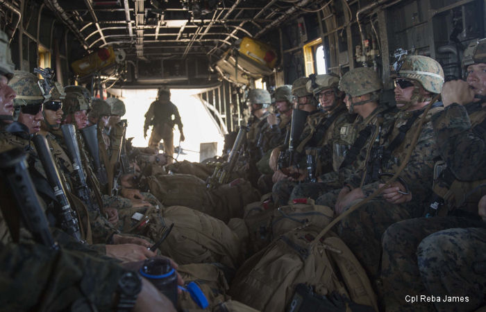U.S. Marines make sure movement is smooth in the Australian skies