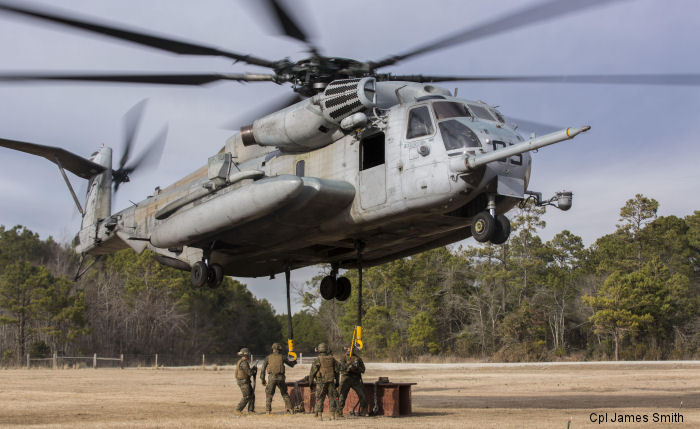 Marine Heavy Helicopter Training Squadron 302 new hangar at MCAS New River is 67,065 square feet / 6230 square meters in total.