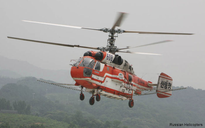 A delegation from Russian Helicopters visit South Korea as part of its contract for overhaul of Ka-32 helicopters operated by Korea's Forest Service.