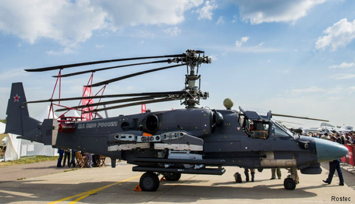 Russia has offered the Ka-52 helicopters developed for the Mistral to Egypt, which intends to purchase from France the helicopter carriers built for the Russian Navy.