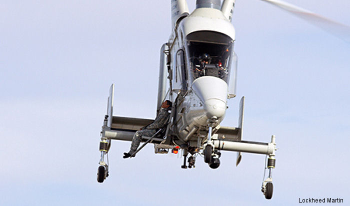 The unmanned K-MAX helicopter showcased its ability to safely transport a wounded warfighter during a demonstration in March 2015.