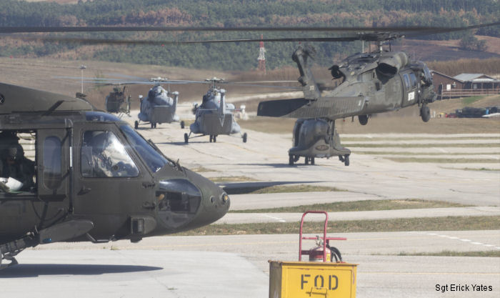 Croatian, Slovenian, Swiss and U.S. Army flight crews soared over Kosovo for a multinational, eight-ship helicopter mission, during a large aviation exercise