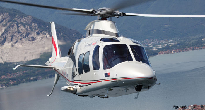 AgustaWestland GrandNew  on display at the LABACE exhibition