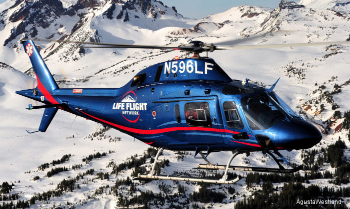 Life Flight Network, the United States' largest not-for-profit air ambulance provider sign for 4 firm orders and 2 options for AW119Kx  and preliminary agreements for up to 5 AW109 Trekkers