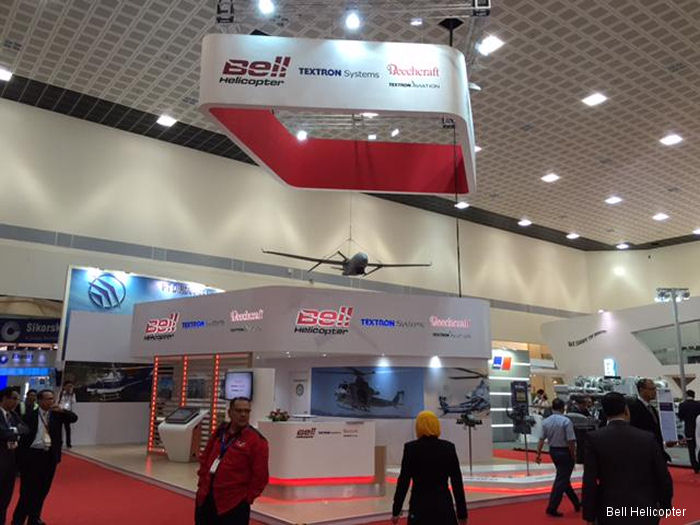 Bell Helicopter booth at LIMA 2015