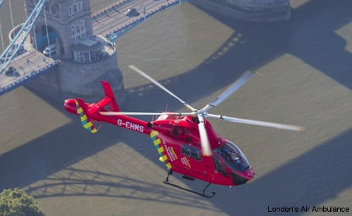 London's Air Ambulance acquired a second medical helicopter thanks to contributions from the people and organisations. The used MD902 Explorer, G-LNDN, is targeted to be operational in early 2016.