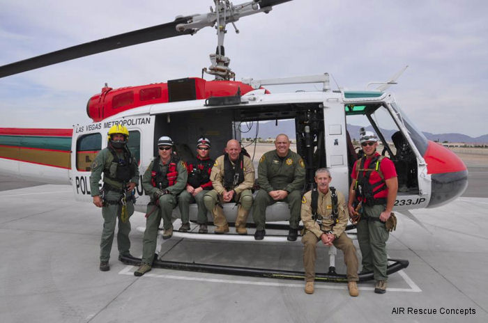 Air Rescue Concepts  (ARC) recently completed a week long evaluation and training opportunity with Las Vegas Nevada Metro Police Departments (LVMPD) SAR aviation unit.