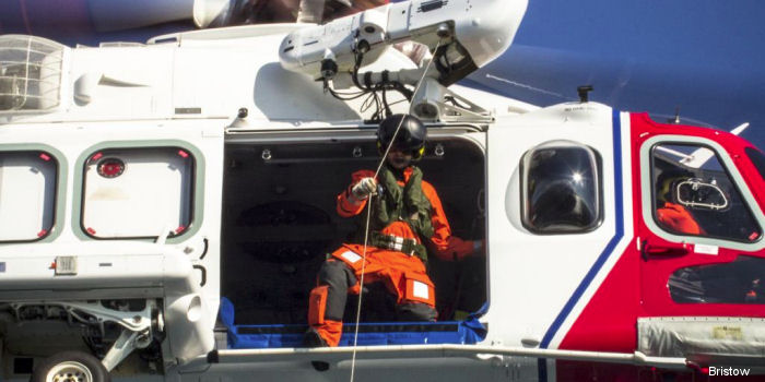 Bristow SAR AW139 based at Lydd performed a winch training exercise with HMS Echo, a Plymouth-based survey ship returning back from the North Sea