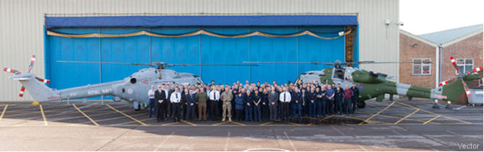 After 37-year support, Vector Aerospace held a ceremony to commemorate the last Depth maintenance event to be completed on a UK Armed Forces Lynx helicopter. Lynx being replaced by the <a href=/database/model/798/>Wildcat</a>