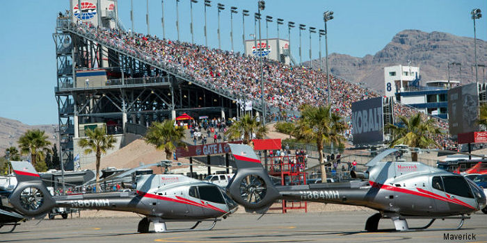 Maverick Helicopters Re-Signs Multi-Year Contract with Las Vegas Motor Speedway