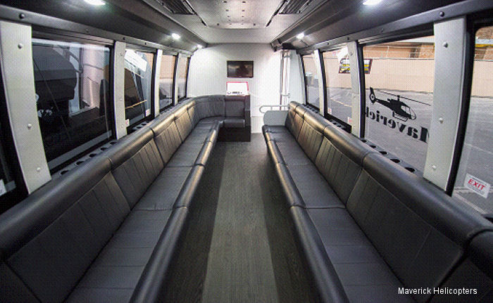 Maverick Helicopters from Las Vegas invested nearly $2 million to upgrade its entire ground transportation fleet to limo coaches.