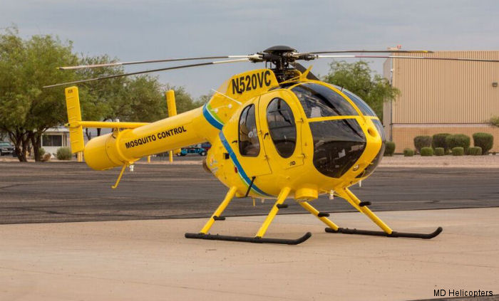 MD Helicopters, Inc. (MDHI) announced delivery of a new MD520N single-engine helicopter to Volusia County Mosquito Control, Volusia County, Florida ordered last March.