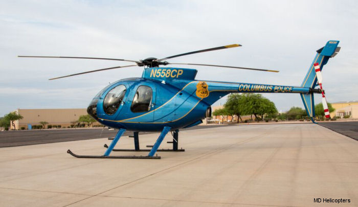Columbus Police Aviation Unit Welcomes Back New Zero-time MD530Fs
