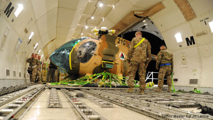 First Six MD530F Cayuse Warrior to Afghan Air Force