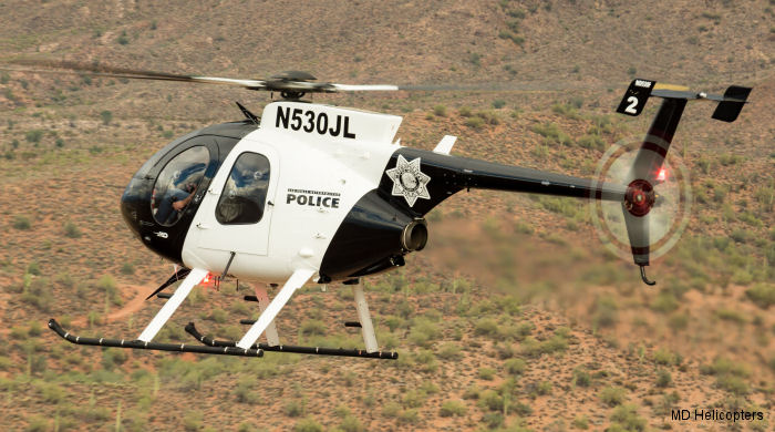 MD Helicopters (MDHI) announced the delivery of a new MD530F helicopter to the Las Vegas Metropolitan Police Department (LVMPD) Aviation Unit.