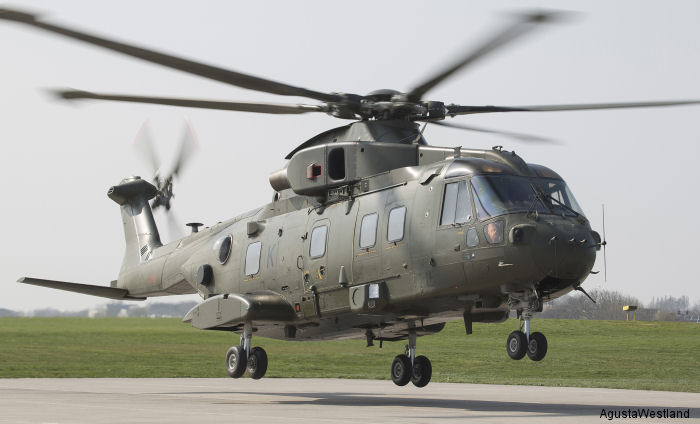 First Upgraded AW101 Merlin HC Mk3 Delivered to Royal Navy