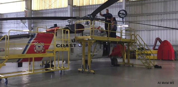 All Metal MS delivered a customized line of solution driven MH-60 Jayhawk maintenance stands and hangar equipment to Coast Guard Air Station Clearwater, Florida