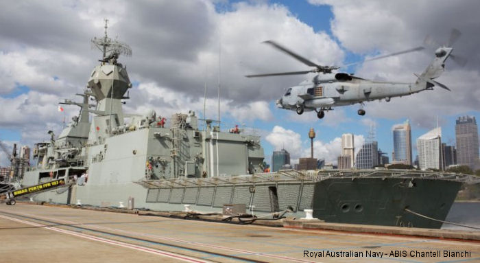For the first time a Royal Australian Navy MH-60R Seahawk helicopter landed on an Australian warship, HMAS Perth, and marked the start of the helicopter's First Of Class Flight Trials.