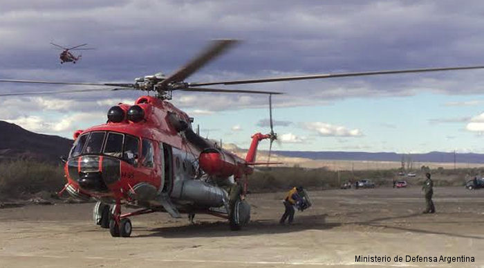 Argentine Air Force Mi-171E used in relief support